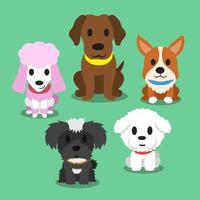 Cartoon dogs standing vector