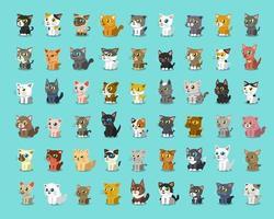 Different cartoon cats vector