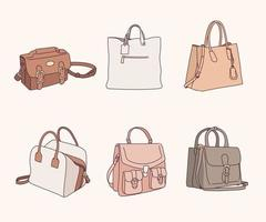 Bags of formal style. vector