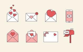 love letters illustration vector