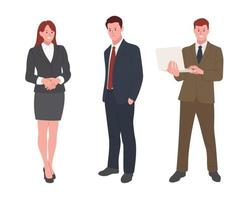 office suit character set. vector