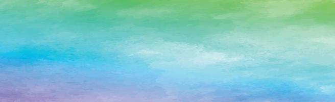 textura panorámica de acuarela multicolor realista sobre un fondo blanco - vector