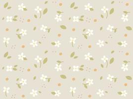 lindo fondo floral. plantilla de diseño de patrón simple. vector