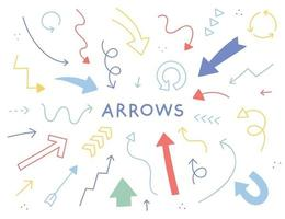 Cute and colorful arrows. simple pattern design template. vector