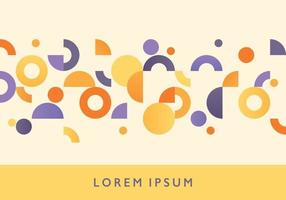 A patterned background consisting of circles and donut shapes. Simple pattern design template. vector