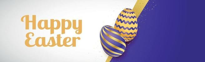 Easter background with holiday eggs and congratulations - Vector
