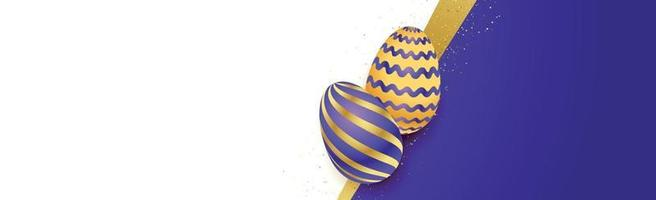 Easter background template with festive eggs - Vector