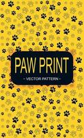 Pattern Many animal footprints of different sizes - Vector