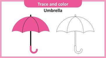 paraguas de rastro y color vector