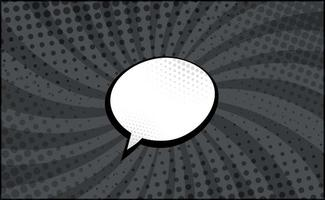 Black and White Comic Zoom with Lines and Dots - Vector