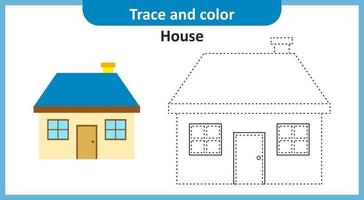 Trace and Color House vector
