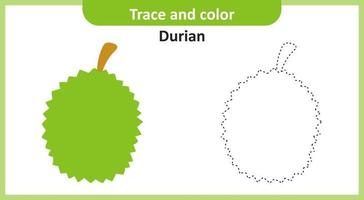 Trace and Color Durian vector