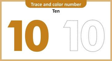 Trace and Color Number Ten vector