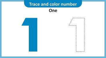 Trace and Color Number One vector