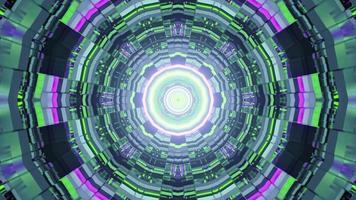 uma ilustração 3D de um labirinto móvel em forma redonda video