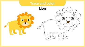 Trace and Color Lion vector