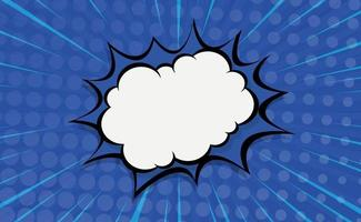 Blue comic zoom with lines and dots - Vector