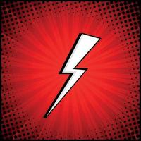Red comic zoom with lines and dots - Vector