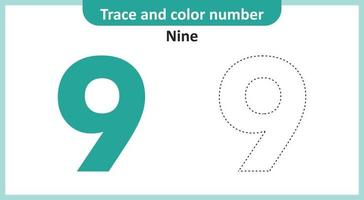 Trace and Color Number Nine vector