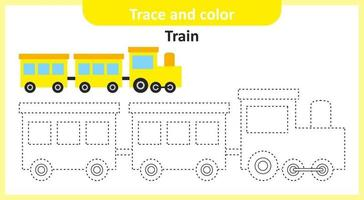 Trace and Color Train vector