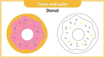 Trace and Color Donut vector