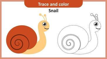 rastro y color caracol vector