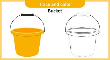 Trace and Color Bucket vector