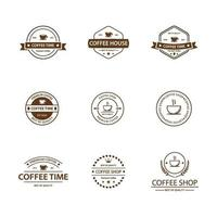 Coffee vintage logo icon pack vector