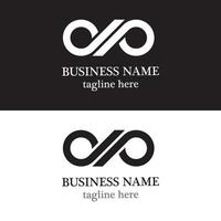 Infinity logo template design vector