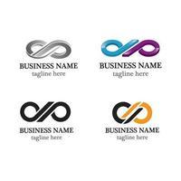 Infinity logo template icon set vector