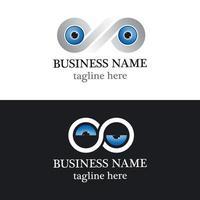 Eye infinity logo design vector