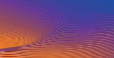 Fondo abstracto violeta-naranja con líneas onduladas - vector
