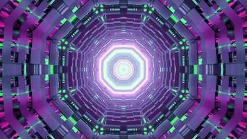 een 3D-afbeelding van bewegende gang in de vorm van een cirkel video