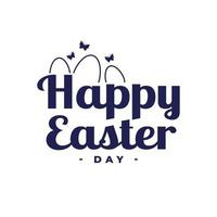 Congratulations on the Easter holiday on a white background - Vector
