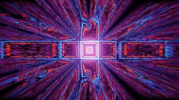 uma ilustração em 3D de um corredor móvel em forma de quadrado escuro video