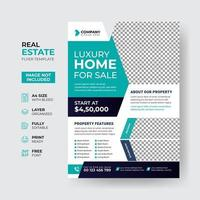 Creative and modern real estate flyer template design vector
