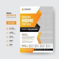 Professional real estate flyer template design vector