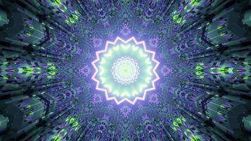 een 3D-afbeelding van geometrische bewegende gang video