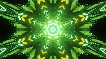 padrão dinâmico multifacetado em forma de estrela na ilustração 3 d video