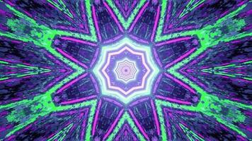 uma ilustração em 3D de um túnel vibrante em movimento com luzes de néon