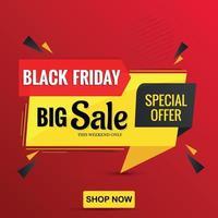 Black Friday big sales special offer flayer design templates vector