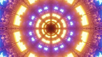 ciberespaço abstrato com lâmpadas brilhantes em ilustração 3 d