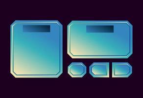 set of fantasy space game ui board pop up for gui asset elements vector illustration