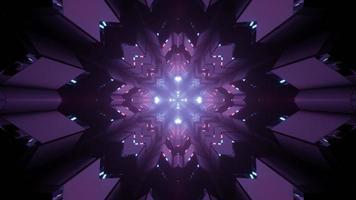 motif ornemental futuriste en forme de flocon de neige en illustration 3 d