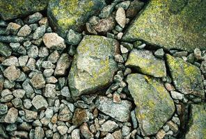 Details of stones with moss photo