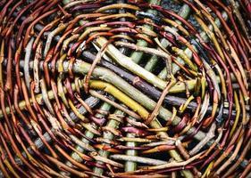 Wicker basket close-up photo