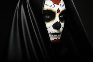 Sugar skull close-up headshot photo