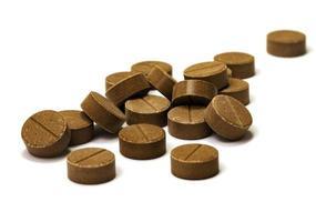 Brown tablets of mumio shilajit photo
