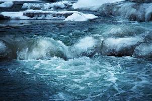 Cold river rapids photo