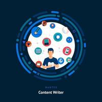 Content writing skills wanted vector